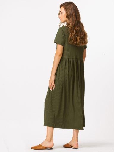 Sukienka maxi w kolorze khaki Katarina Ivanenko