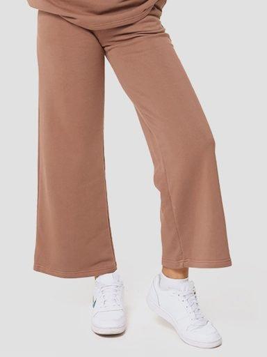 Spodnie dresowe proste w kolorze czekoladowym Katarina Ivanenko