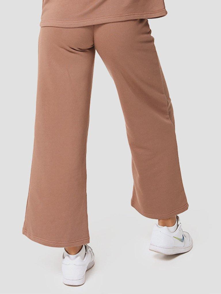 Spodnie dresowe proste w kolorze czekoladowym Katarina Ivanenko (zdjęcie 2)