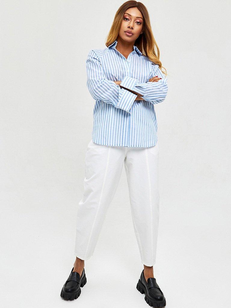 Koszula w kolorze błękitnym w paski Katarina Ivanenko