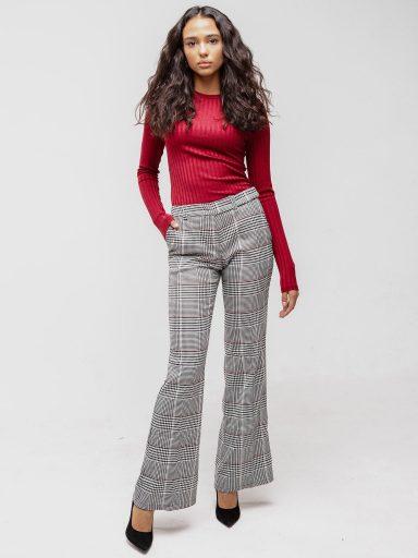 Rozkloszowane spodnie w kratę Katarina Ivanenko