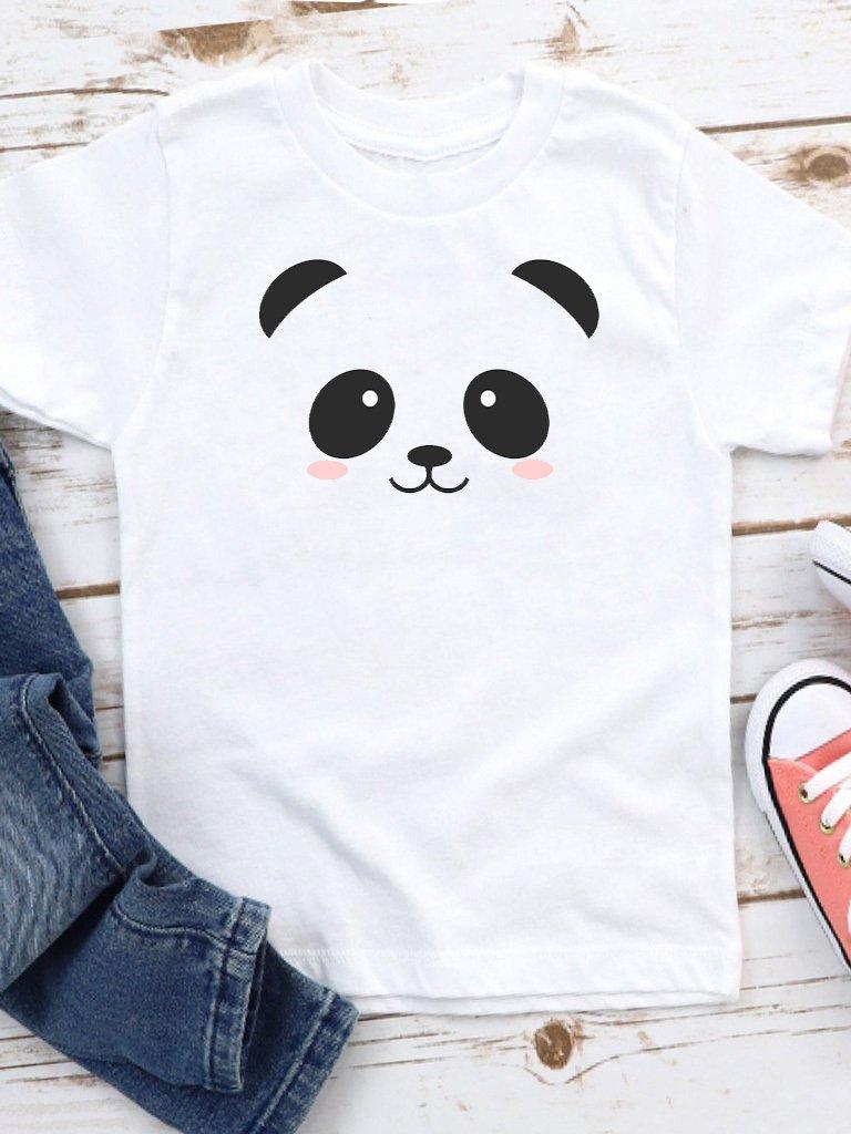 T-shirt biały dla dzieci Panda Love&Live