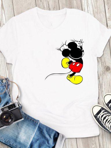 T-shirt męski biały Trzymaj się, Mickey Love&Live