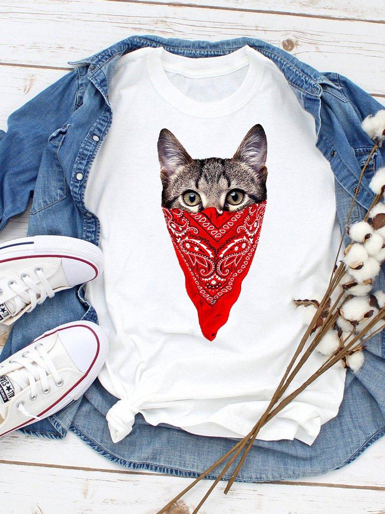 T-shirt biały Katboy Love&Live
