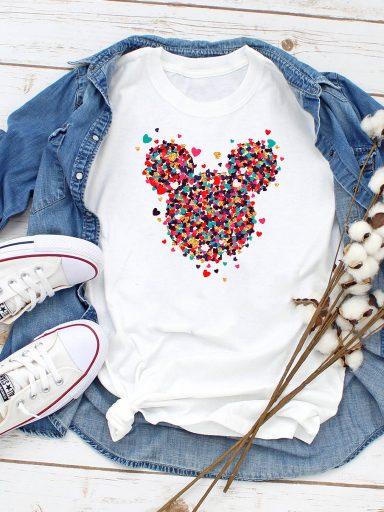 T-shirt biały Kawałki Minnie Miłości Love&Live