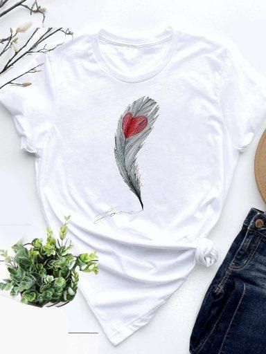 T-shirt biały Czułość Love&Live