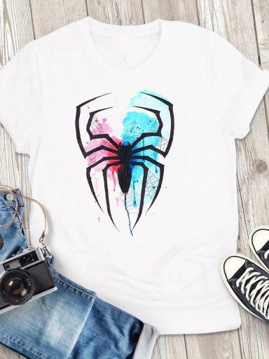 T-shirt męski biały Pająk Love&Live