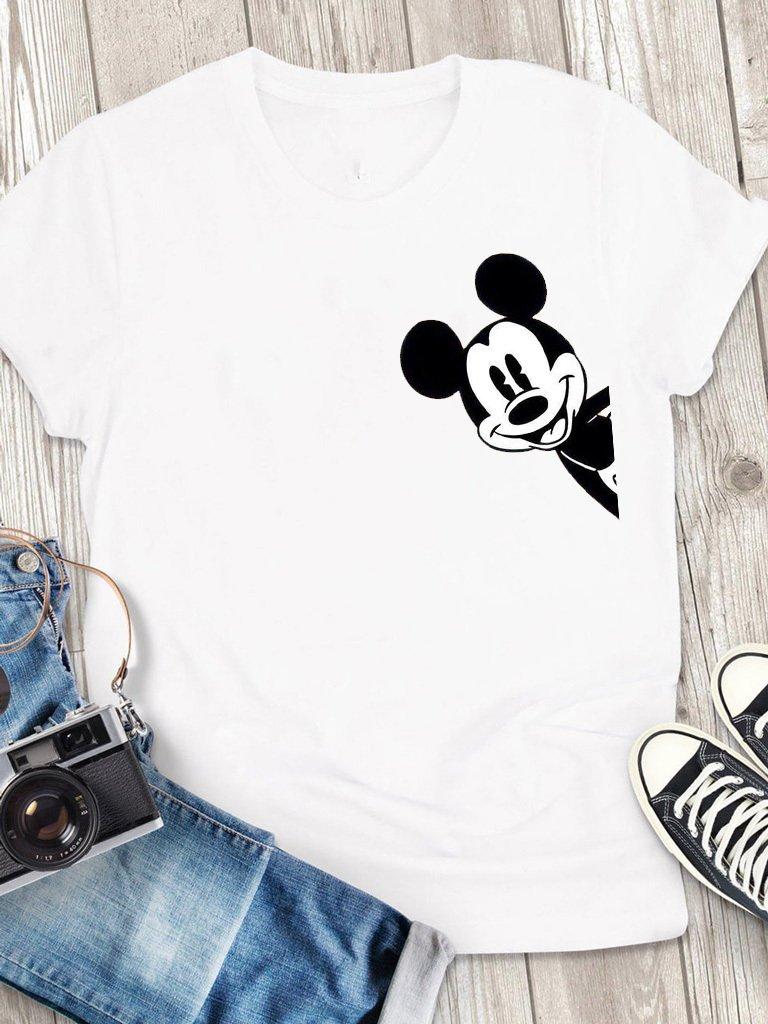 T-shirt męski biały Hey, Mickey! Love&Live