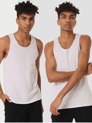 Zestaw białych koszulek męskich 2 szt. Love&Live