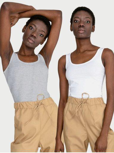 Zestaw koszulek na szerokich ramiączkach 2 szt. (biała, szara) Love&Live