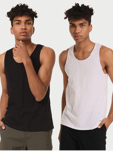 Zestaw koszulek męskich 2 szt. (biała, czarna) Love&Live