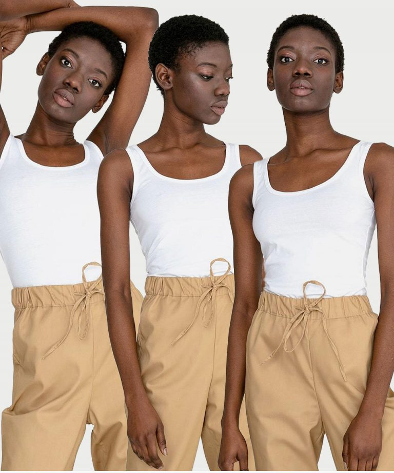 Zestaw białych koszulek na szerokich ramiączkach 3szt. Love&Live