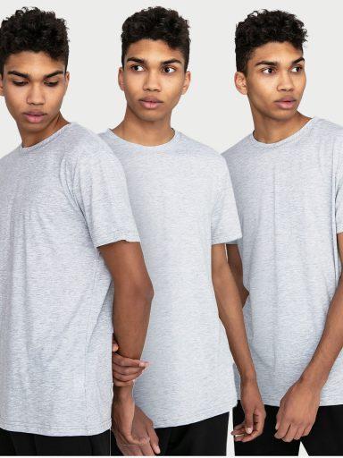 Zestaw szarych t-shirtów męskich 3 szt. Love&Live