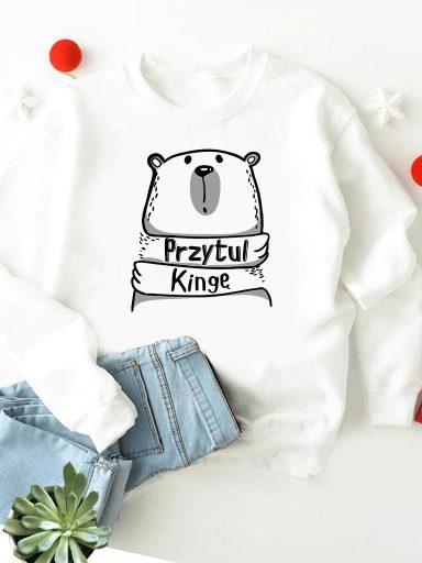 Bluza w kolorze białym Przytul Kingę Love&Live