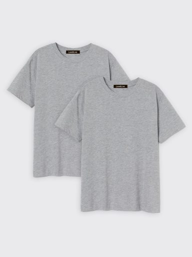 Zestaw t-shirtów szarych 2 szt. Love&Live