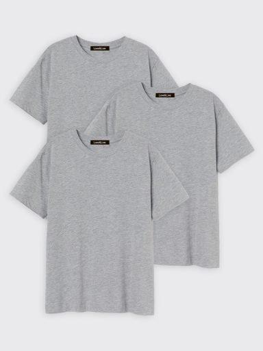 Zestaw t-shirtów szarych 3 szt. Love&Live