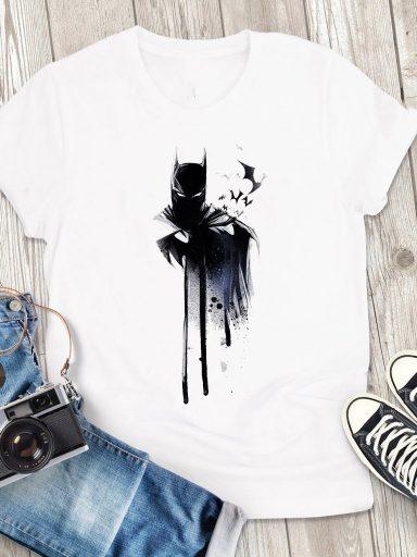 T-shirt męski biały Batman Love&Live