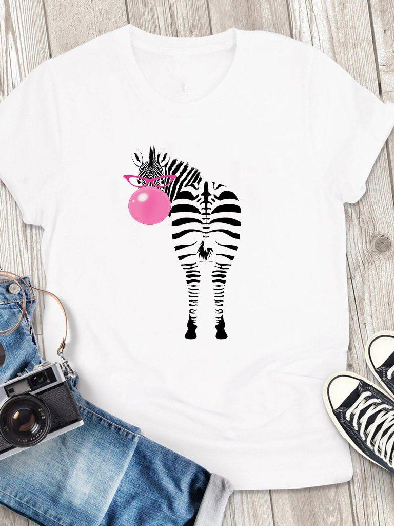 T-shirt męski biały Bubble-zebra Love&Live