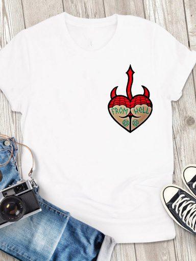 T-shirt męski biały From hell Love&Live