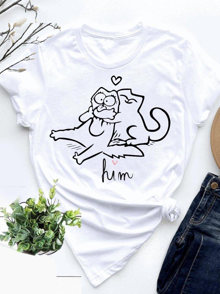 T-shirt biały Him Love&Live