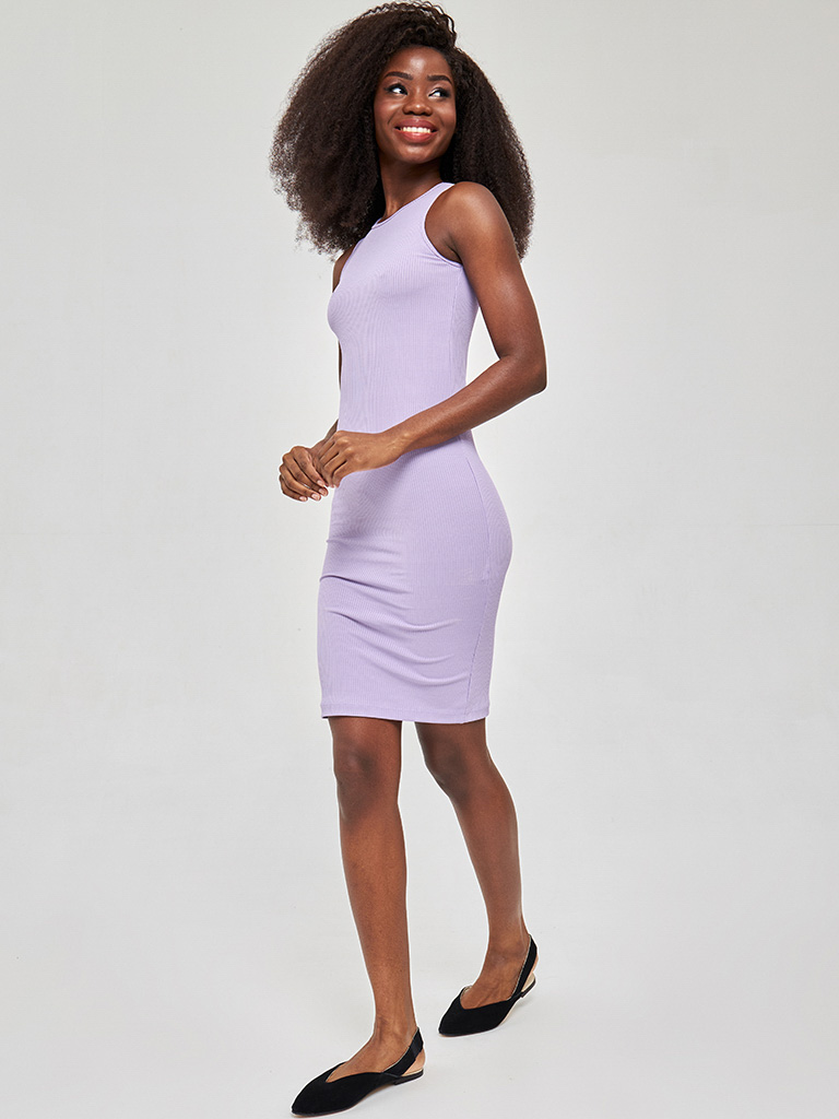 Sukienka mini w kolorze fioletowym Love&Live (zdjęcie 2)