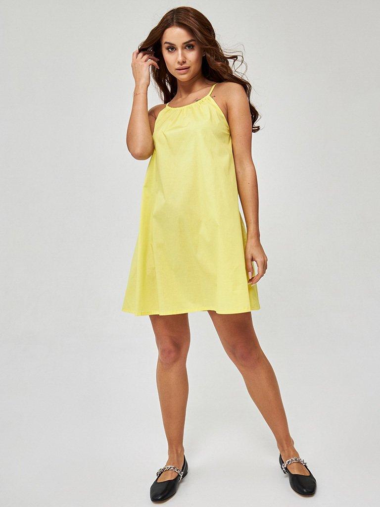 Sukienka mini w kolorze żółtym Love&Live (zdjęcie 2)