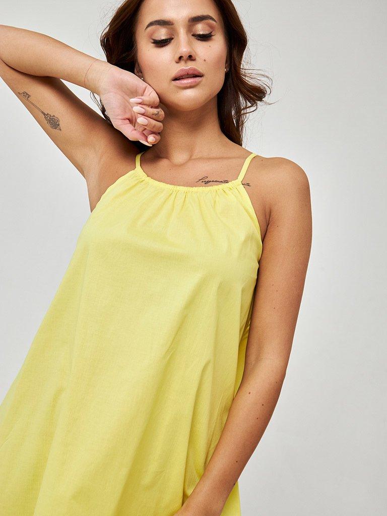 Sukienka mini w kolorze żółtym Love&Live (zdjęcie 3)