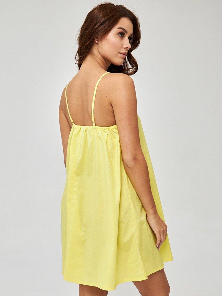 Sukienka mini w kolorze żółtym Love&Live (zdjęcie 4)