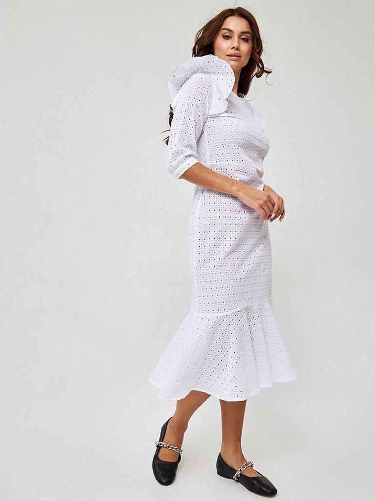 Sukienka midi w kolorze mlecznym Katarina Ivanenko