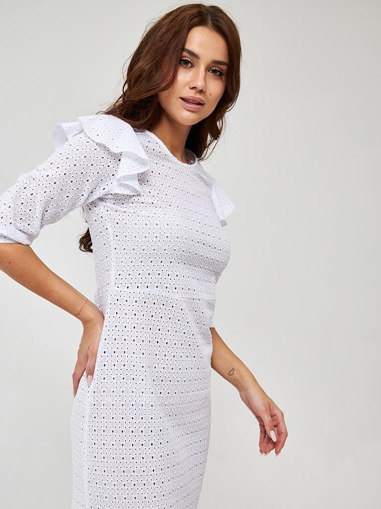 Sukienka midi w kolorze mlecznym Katarina Ivanenko (zdjęcie 3)