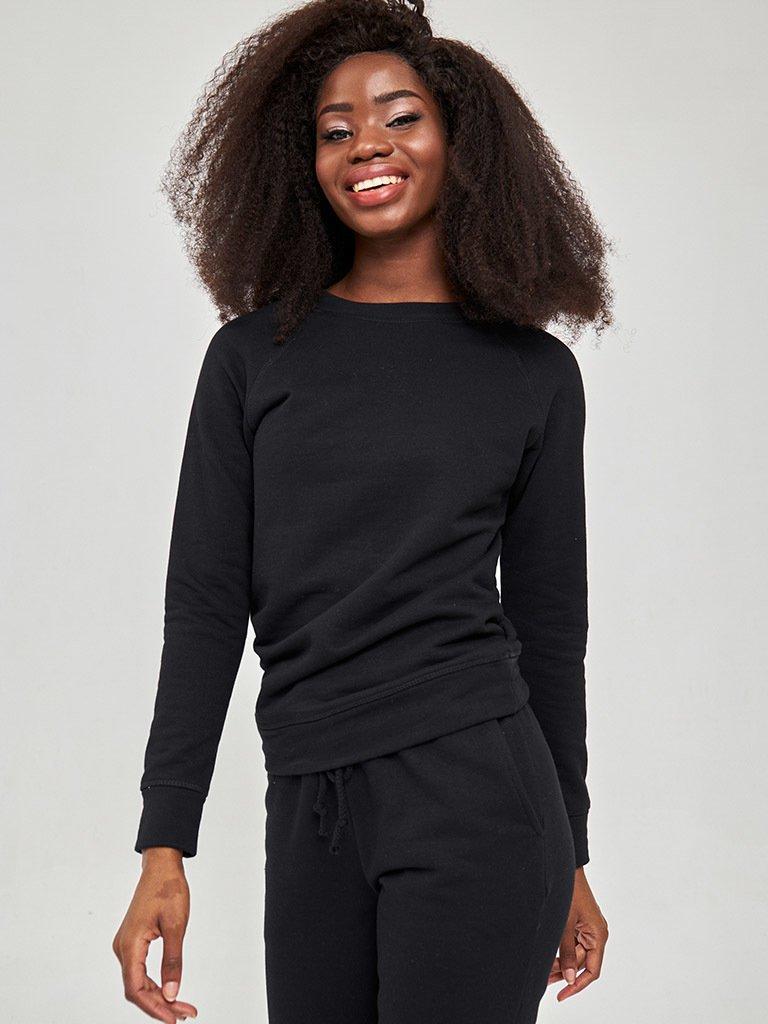Bluza o skróconym fasonie w kolorze czarnym Love&Live