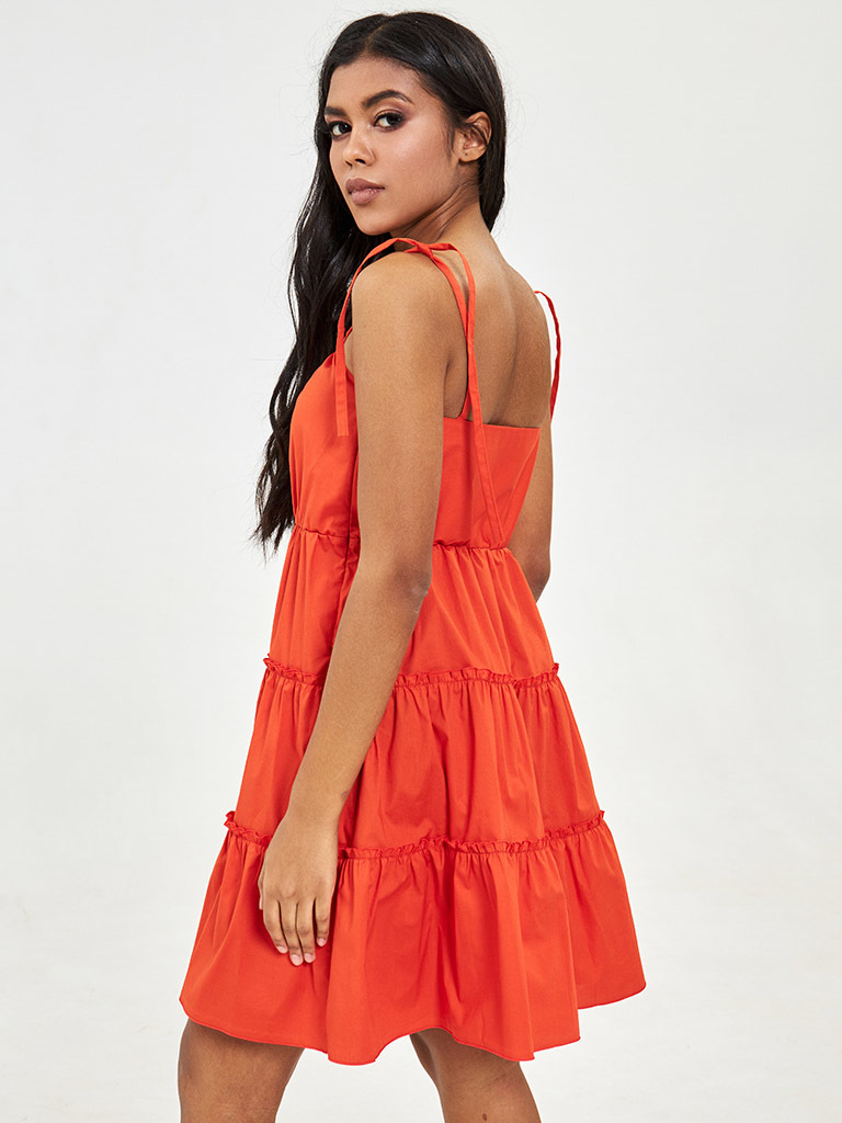 Sukienka mini w kolorze koralowym Love&Live