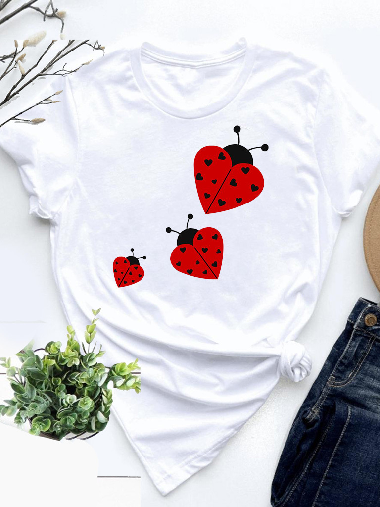 T-shirt biały Ladybug Love&Live