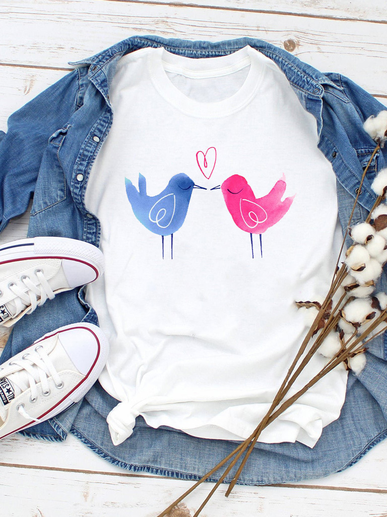 T-shirt biały Love birds Love&Live