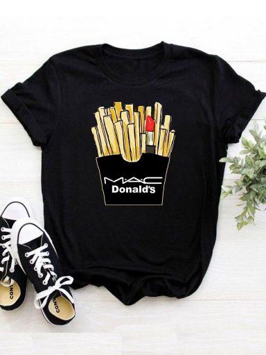 T-shirt czarny M.A.C. Donald's Katarina Ivanenko
