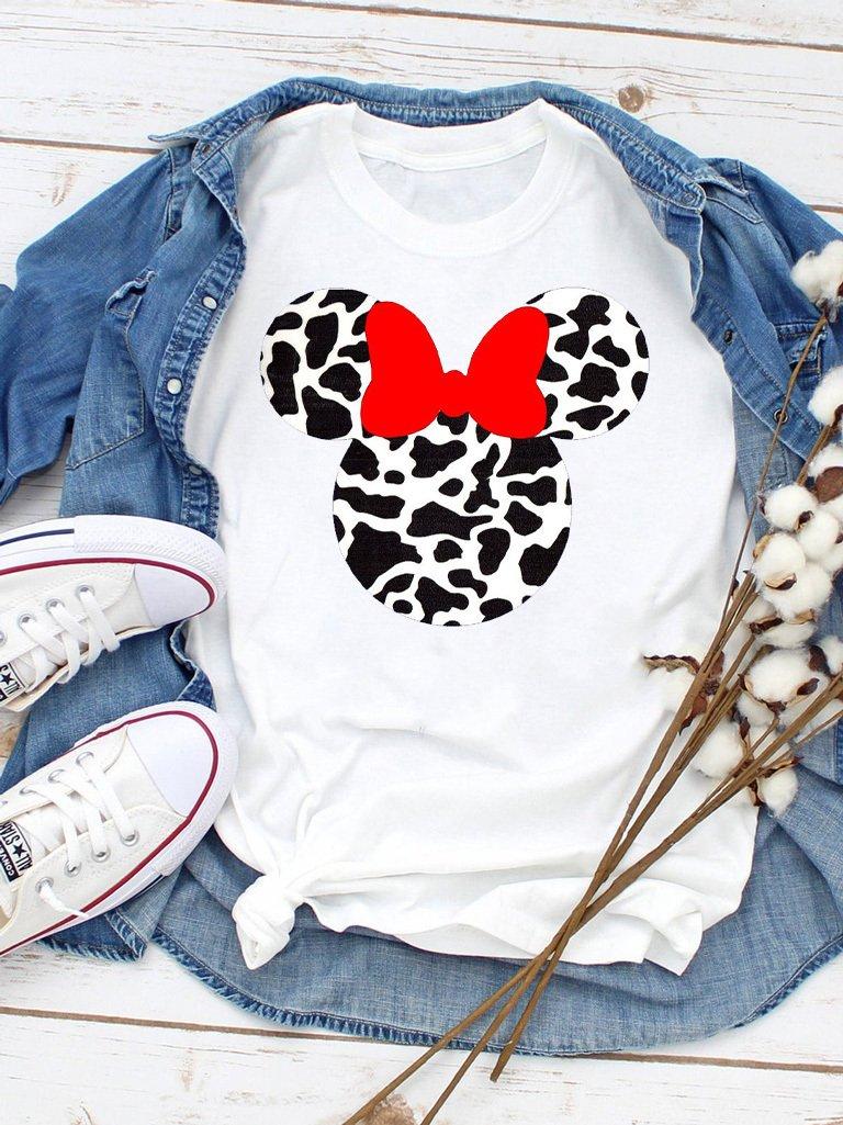 T-shirt biały Minnie cow Love&Live