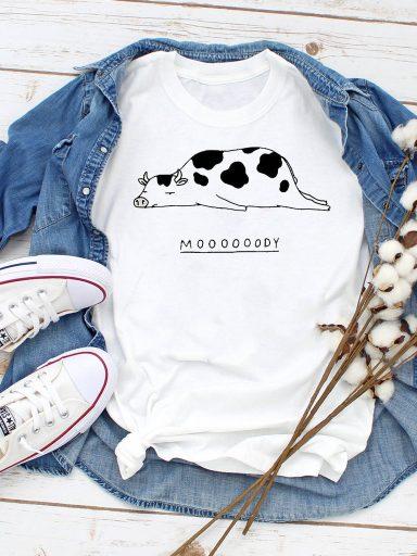 T-shirt biały Mooooody Love&Live