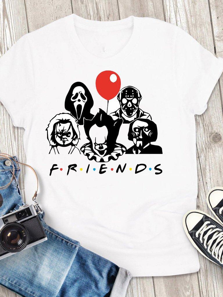 T-shirt męski biały My friends Love&Live
