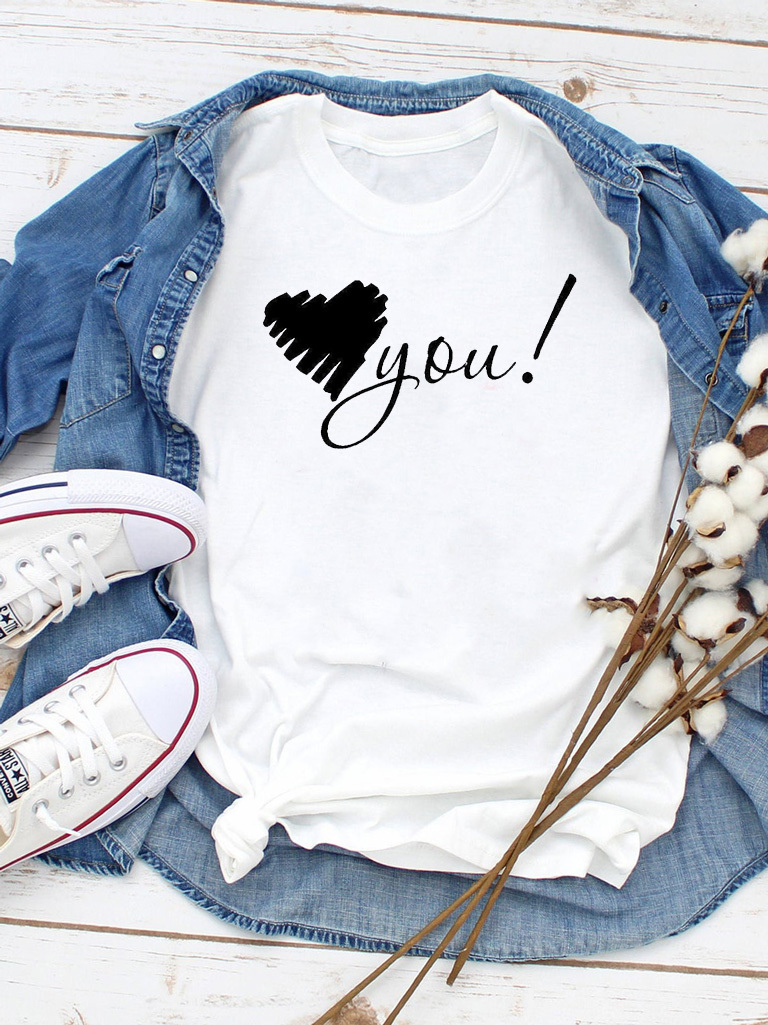 T-shirt biały Only you Love&Live