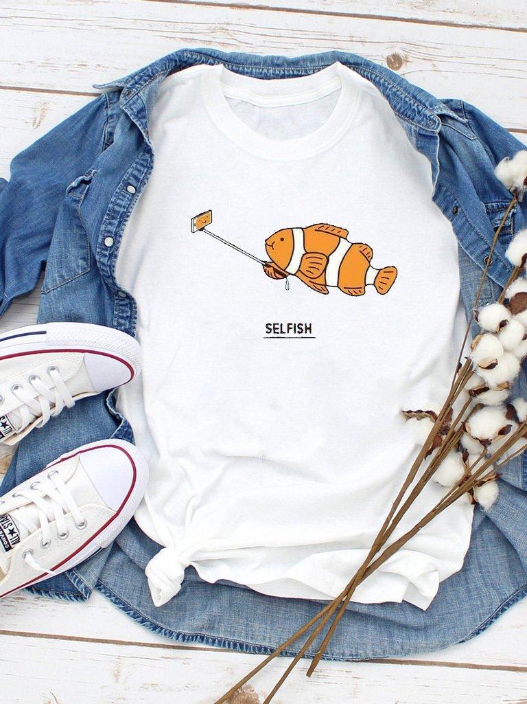 T-shirt biały Selfish Love&Live