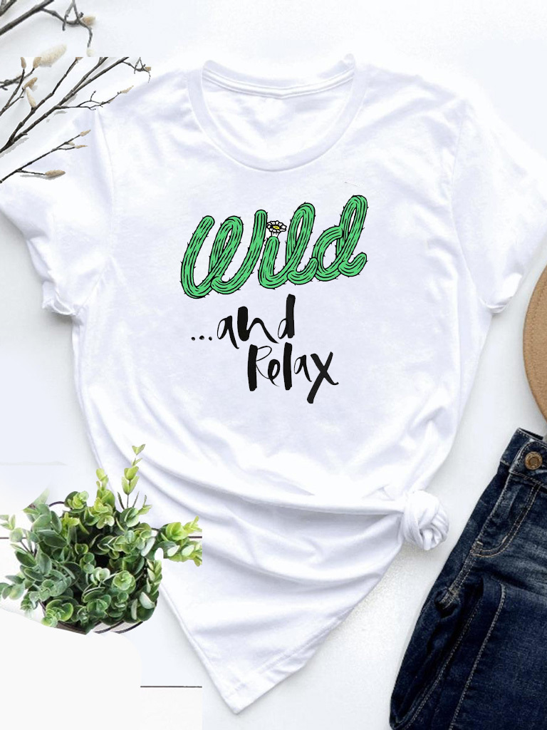 T-shirt biały Wild and relax Love&Live