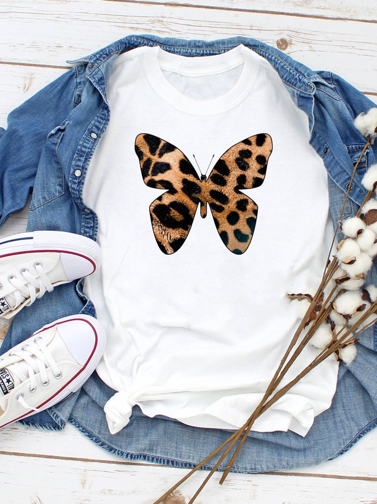 T-shirt biały Wild butterfly Love&Live