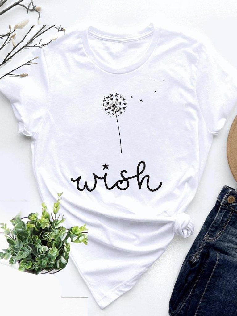 T-shirt biały Wish Love&Live