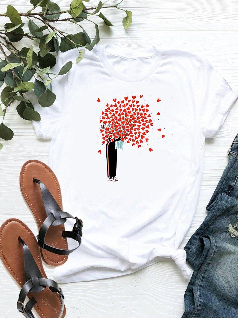 T-shirt biały Bukiet miłości ZUZU