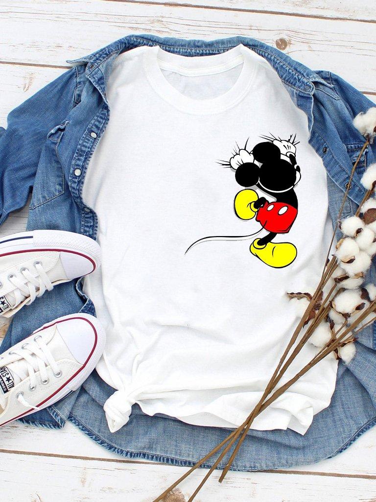 T-shirt biały Trzymaj się, Mickey Love&Live