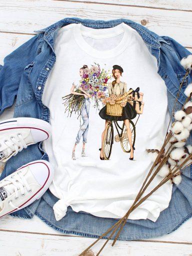 T-shirt biały Dostawa Love&Live