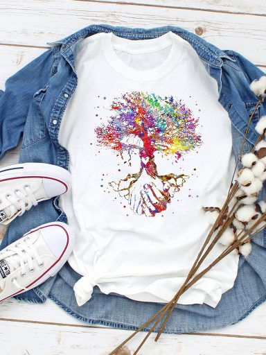 T-shirt biały Drzewo życia Love&Live