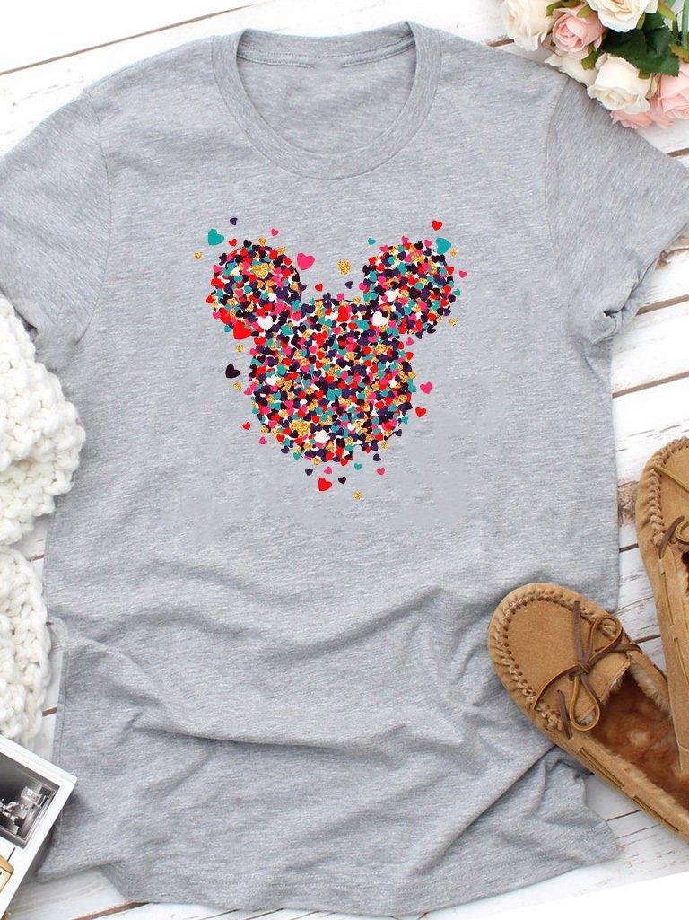 T-shirt szary Kawałki Minnie miłości Love&Live