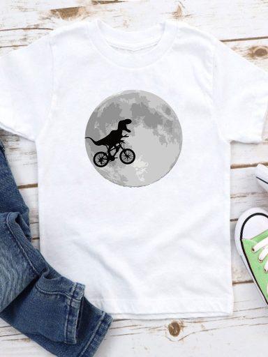 T-shirt biały dla dzieci Księżyc Love&Live