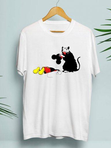 T-shirt męski biały Zjedli Mikey ZUZU